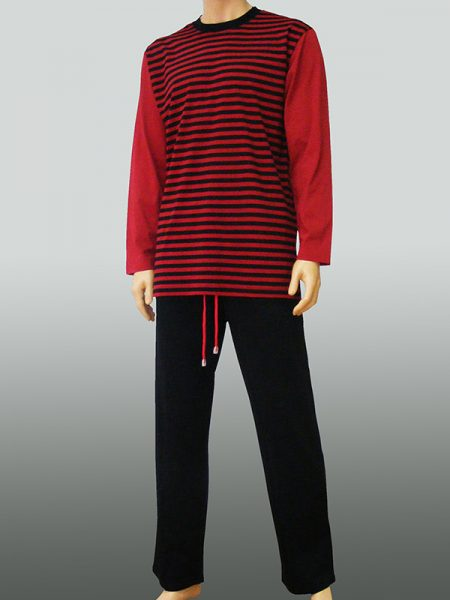 10206 - Black Bordo Stripes
