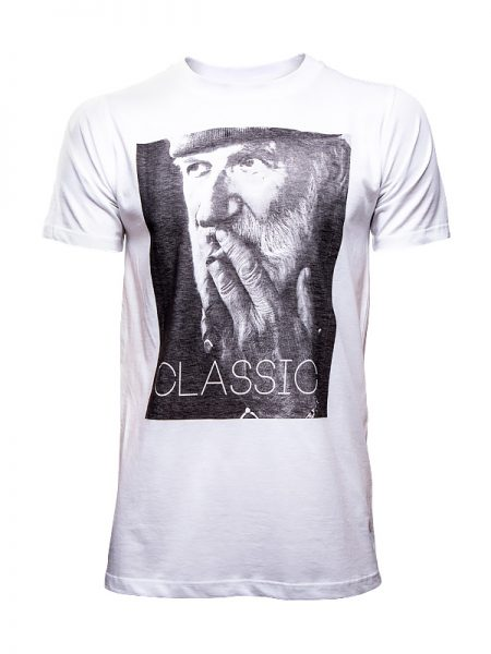 мъжка бяла тениска